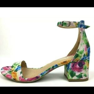 LAST ONES Rash Chunky heel floral sandal w/ strap
